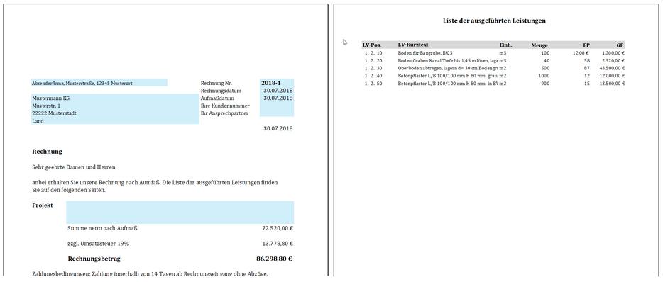 Gaeb Ausschreibungen Excel Aufmaß Als Da11 Nach Reb 23003