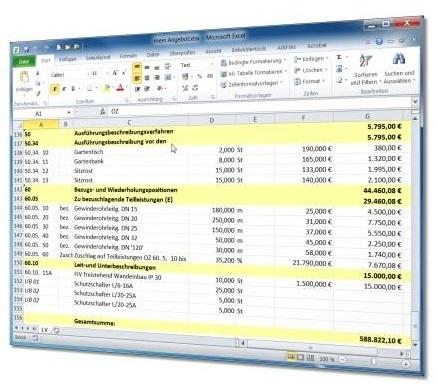 GAEB, GAEB XML, P83, D84, GAEB 2000, GAEB 90, Excel, Exel, D84, RTF, Angebote, LV, Word, Leistungsverzeichnis, Leistungsverzeichnisse, LVs, Ausschreibung, Vergabe, Abrechnung, OpenOffice